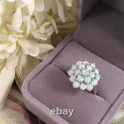 Vintage Jewellery Sterling Silver Ring Opals Antique Deco Jewelry extra large V