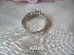 Vintage Jewellery Sterling Silver Ring with Opal Sapphires Antique Jewelry 10