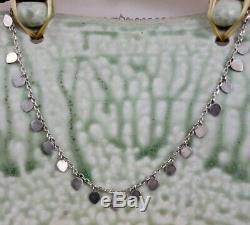 Vintage Me & Ro Sterling Paillette Lotus Petal Necklace