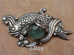 Vintage Mexico Mexican Sterling Silver Los Castillo Pin