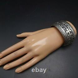 Vintage NAVAJO Sterling Silver Overlay Cuff BRACELET by TOMMY and ROSITA SINGER