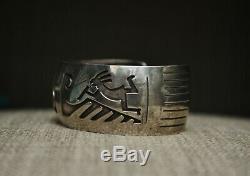 Vintage Native American Navajo Sterling Silver Cuff Bracelet