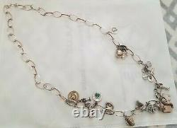 Vintage Sterling Silver 36 Chain Charm Necklace with 21 Vintage Charms