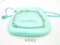 Vintage Tiffany & Co. Sterling Silver ID Chain Bracelet 7.5 A
