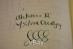 Vintage WATERMAN 12 Sterling Silver Overlay Fountain Pen Eyedropper #2 nib