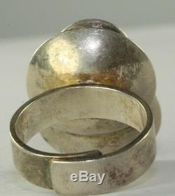 Vtg Finland Sterling Silver Modernist Ring Kupitaan Kulta