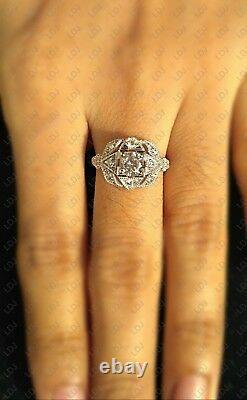 1.1 Ct Vintage Round Cut Art Déco Antique Engagement Ring 925 Sterling Silver