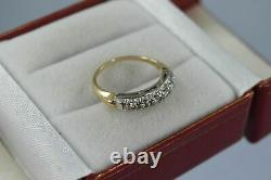 1.21ct Vintage 14k Yellowithwhite Two Tone Gold Finish Diamond Wedding Band Ring