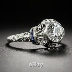 1,50 Ct Bague De Fiançailles En Argent 925 Sertie De Diamants Ronds Blancs Et D'un Diamant Vintage