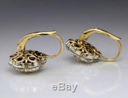 1.50 Ct Round Cut Diamant Vintage Art Déco Antique Stud Mariage Unique Boucle D'oreille