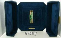 1990 Vintage Rare Emerald Et Diamond Or Jaune Plus Bangle 7.5 Bracelet