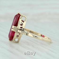 2.5ct Vintage Ovale Cut Rouge Rubis En Or Jaune 14k Plus Solitaire Bague De Fiançailles