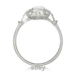 2.81 Ct Diamond Vintage Retro Engagement Wedding Halo Ring 14k White Gold Over