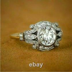 2ct Vintage Diamond Circa Antique Art Déco Bague De Fiançailles 14k Or Jaune Plus