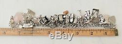 40 Vintage Charm Bracelet En Argent Sterling À Mi-siècle Thème Mécanique