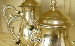 5 Pc Vintage Prelude-plain International Sterling Café / Thé Set Withwaste Bowl