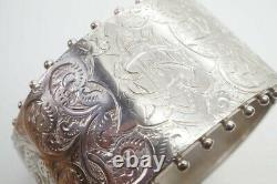 Antique Victorian Anglais Sterling Silver Bangle / Bracelet C1882