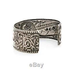 Antique Vintage Art Nouveau En Argent Sterling Saint-louis Du Dragon Bracelet