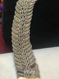 Antique Vintage Domaine En Argent Sterling Serpent Bracelet Dragon