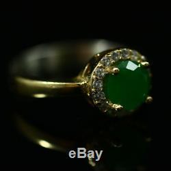 Argent 925 Main Authentique Vintage Turque Style Emerald Ladies Set