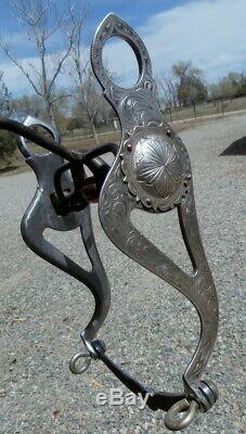 Argent Vintage Gravé Sterling Fer Bouche Horse Show Bit