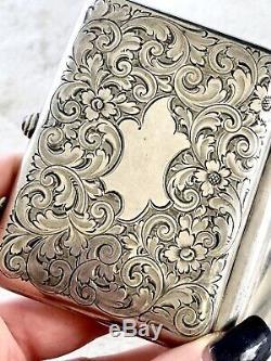 Argent Vintage Sterling Art Déco 925 Mesdames Portefeuille Cigarettes Porte-monnaie