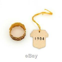 Art Antique Vintage Deco Sterling 800 Portugais Or Argent Filigrane Ring 5.5