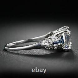 Art Déco Vintage Bague Engagement Anneau De Mariage 2.1 Ct Diamant 925 Sterling Argent