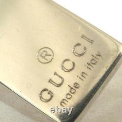 Auth Vintage Gucci Plate Collier Double Balled Chaîne Sterling Argent 48cm/19