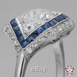 Bague Anniversaire De Fiançailles En Argent 925 Sertie De Diamants Blancs 2.80 Ct Vintage Art Déco