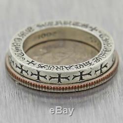 Bague De Bande Limitée Avec Diamants, Chrome Hearts, Argent Sterling 2001
