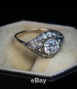 Bague De Fiançailles En Diamants D'époque Édouardienne Victorienne D'époque 1.20ct, Circa 1910
