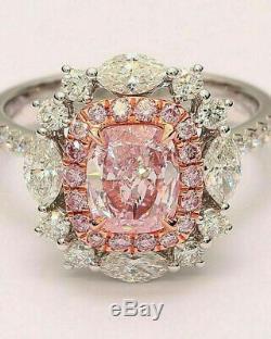Bague De Fiançailles Vintage D'art Déco De Mariage Bague Diamant 2.2 Ct Argent 925