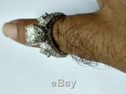 Bague De Fiançailles Vintage En Argent Sterling 925 Avec Une Taille De 3,33 Ct Moissanite 8