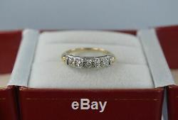 Bague De Mariage En Alliage De Diamants Avec Diamants Multicolores Vintage 14k, Finition Or 0,50 Tcw