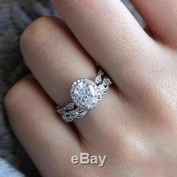 Bague Jonc De Fiançailles Vintage À 2 Diamants, Or Blanc 14k