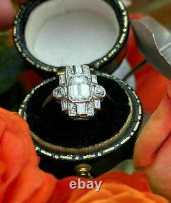 Bague Victorian Edwardian Antique De Fiançailles 2.44 Ct Diamond 14k Or Blanc Sur