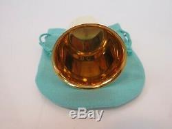 Beaux Vintage Tiffany & Co Vermeil En Argent Sterling Liquor Tir Cup & Pouch