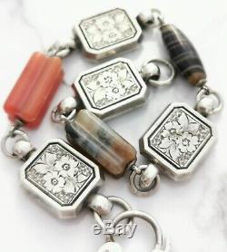 Belle Argent Écossaise Victorienne Antique Et Bracelet Agate