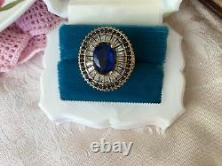 Bijoux Anciens En Argent Sterling Et Bague En Or Avec Saphirs Vintage Bijoux