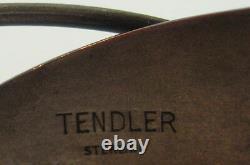 Bill Tendler Great Vintage Sterling Silver Bracelet De Manchette Moderniste