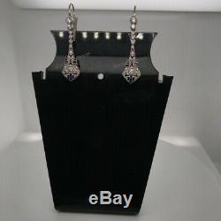 Boucles D'oreille Rondes À Diamants Blancs Avec Diamants Blancs Ronds En Or 14k Sur 2.50ct