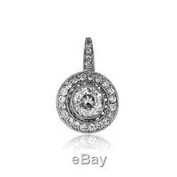 Boucles D'oreilles Antiques Vintage Art Deco 2.0ctw De Diamants Des Années 1920 En Or Blanc 14k