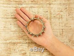 Bracelet En Diamant Mughal D'époque Art Nouveau En Argent Sterling D'époque Art Nouveau