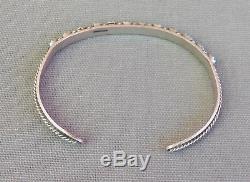 Bracelet Manchette Vintage En Argent Sterling À Motif Serpent Yeux Turquoises