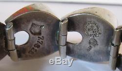 Bracelet Moderniste Mexicain Vintage En Argent Sterling Coté Mexicain Antonio Pineda