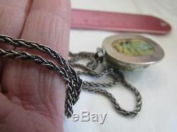 Bracelet Pendentif Scarabée Vintage En Argent Sterling Avec Scarabée Néo-écossais