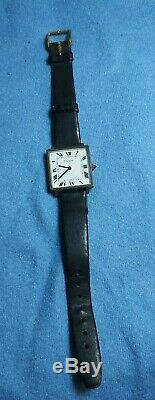 Cartier Santos Réservoir En Argent Sterling Vintage Montre Homme 1960 Main Winding