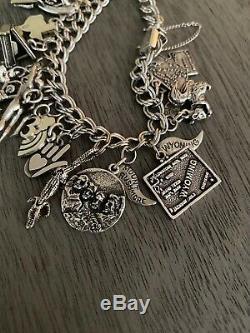 Charms James Avery Vintage Silver + Bracelet Texas Rainbow Heart Piano Main