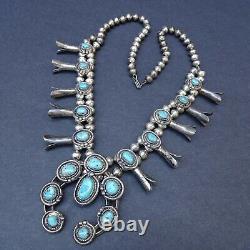 Classic Vintage Navajo Sterling Strasher Squash Blossom Blossom Blossom